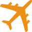 aerospace-plane-orange-icon