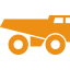 mining-minerals-metals-truck-orange-icon
